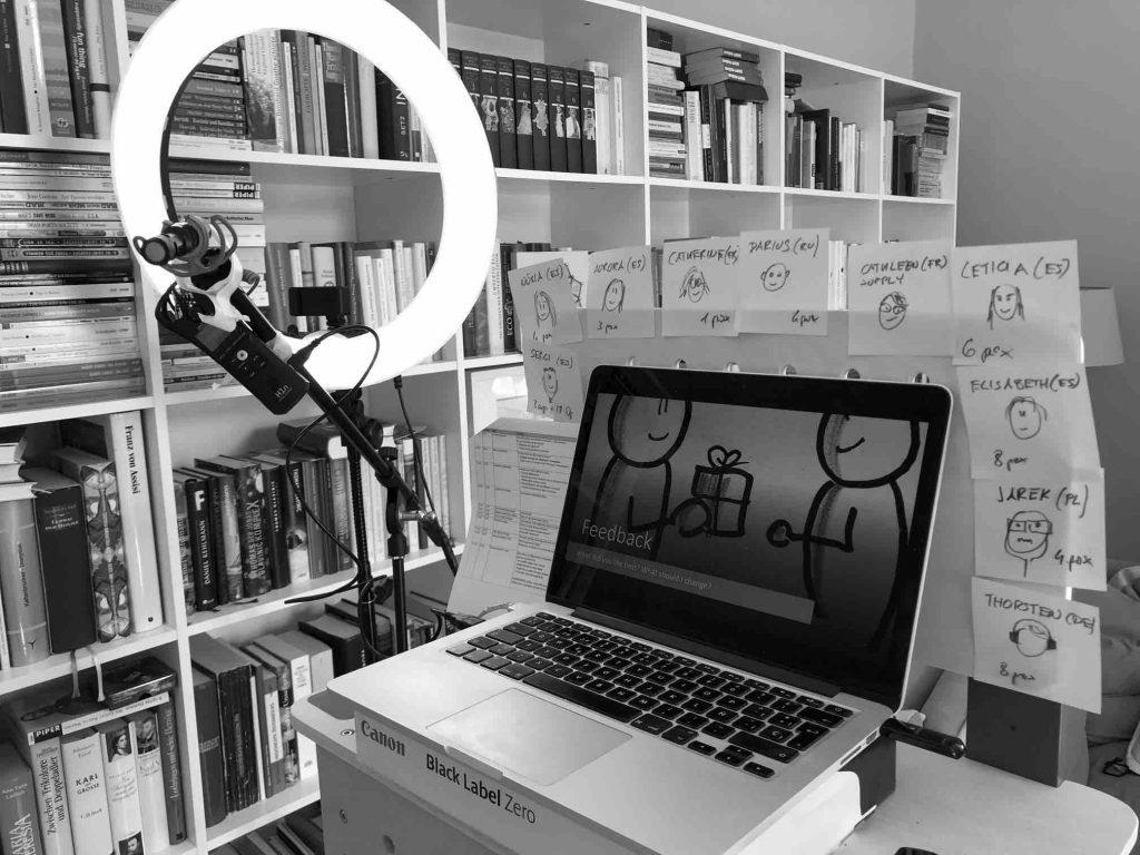 Aula virtual formación de habilidades en remoto